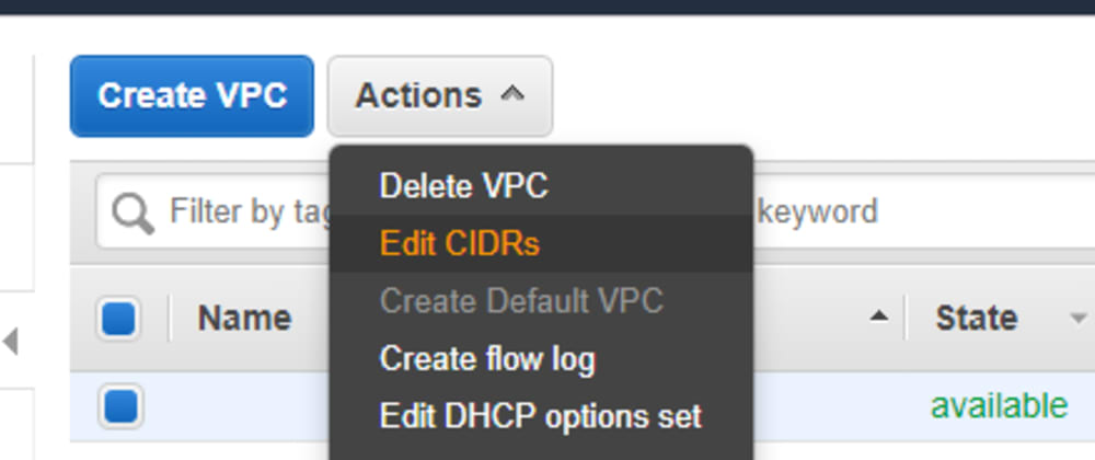Cover image for AWS VPC, how to add more IP addresses?