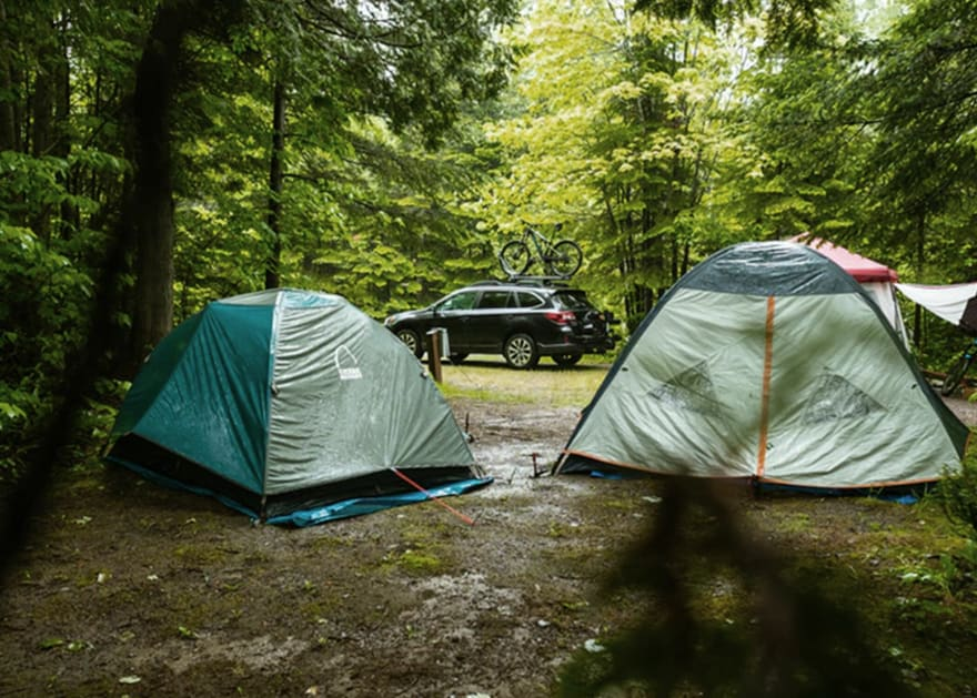 Campground with car