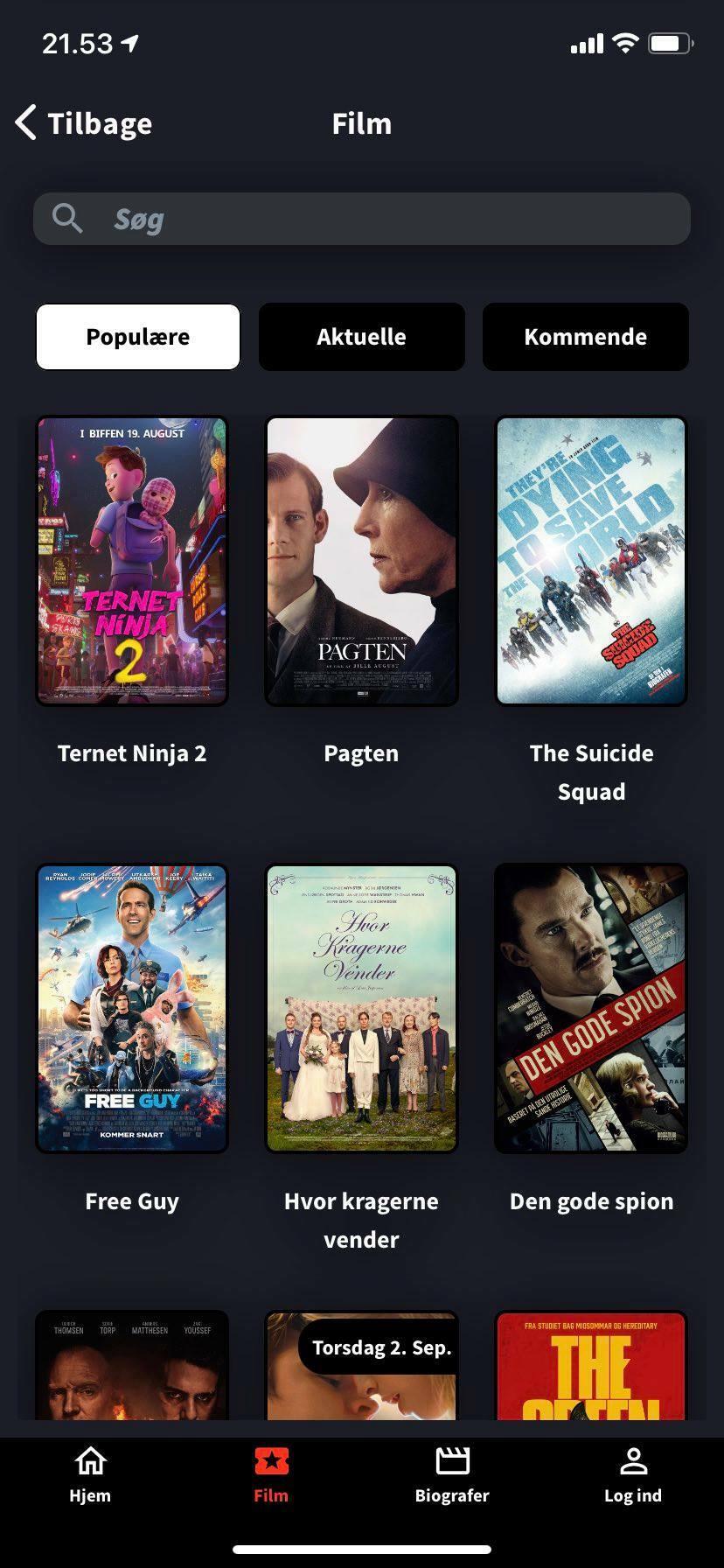movie overview kino app