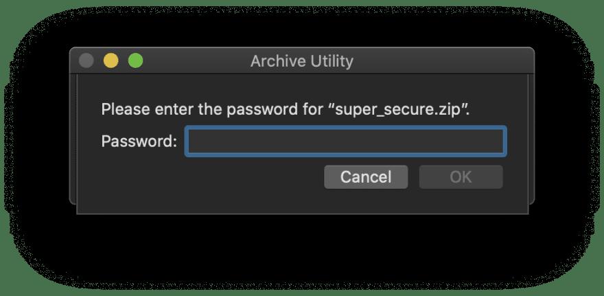 Zip with password on Mac