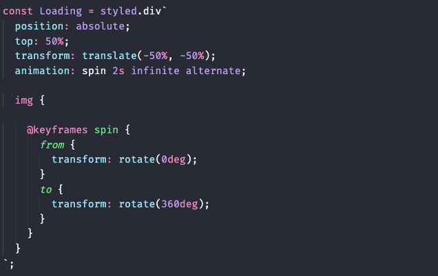 styled-components example