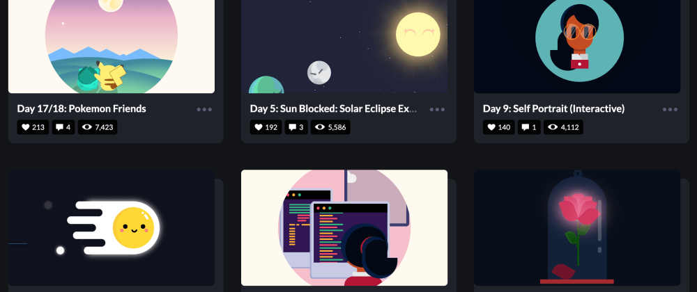 Cover image for 25 Days of CSS Animations: Teaching Myself CSS through Motion Design.