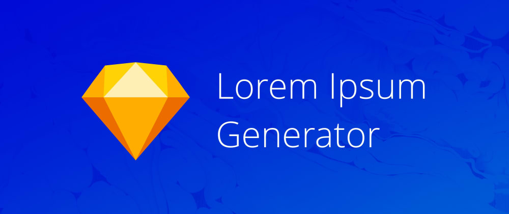 Cover image for Lorem Ipsum Generator plugin for Sketch