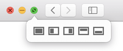 Window buttons hover options in Moom