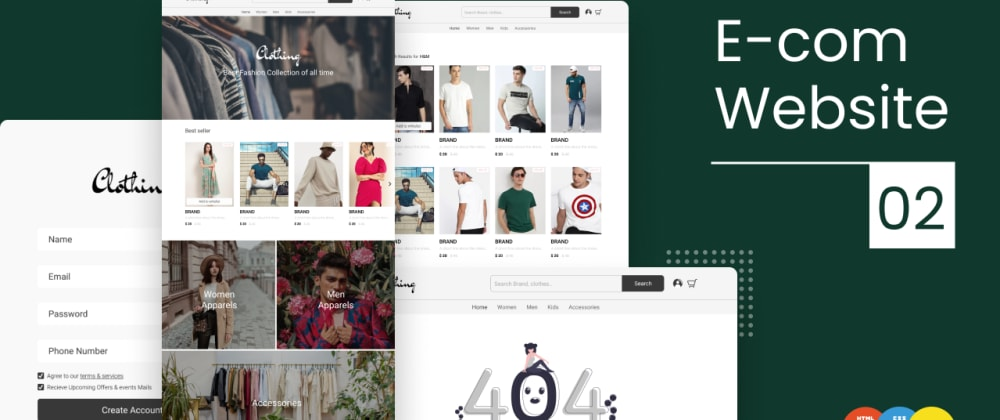 Cover image for How to make e commerce website with HTML, CSS and JS part 2