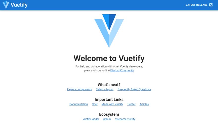 Vuetify Boilerplate