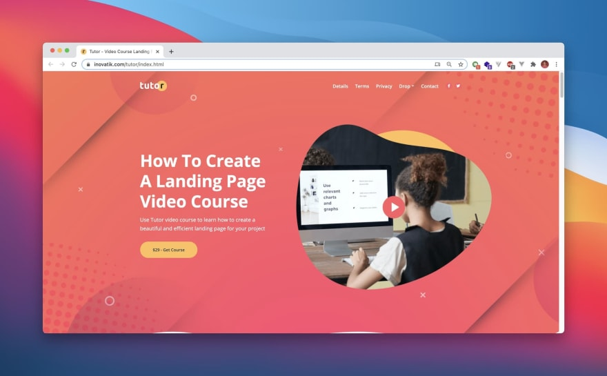 Tutor HTML template