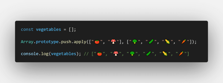 merge two or more arrays with push method using apply from Array.prototype
