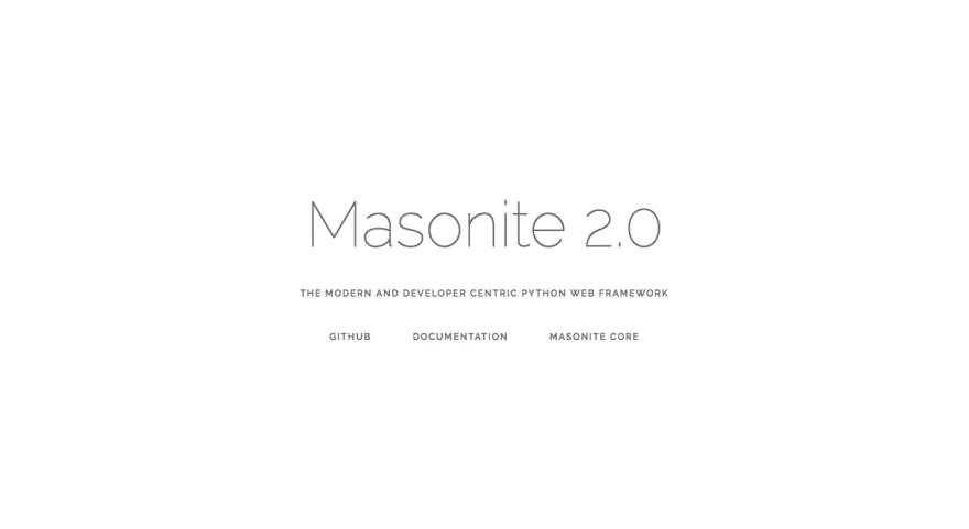 Masonite Framework