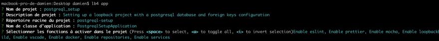 Creating an Loopback application