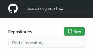 """No canto superior esquerdo da página inicial do Github logado, temos um botão verde escrito """"New"""", onde iremos todas as vezes que queremos criar um novo repositório"""