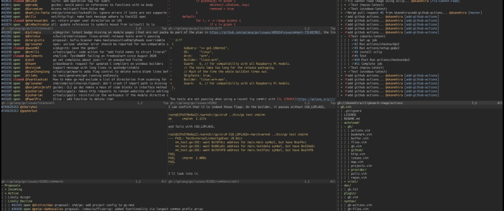 Cover image for Use GitHub in Vim/Neovim