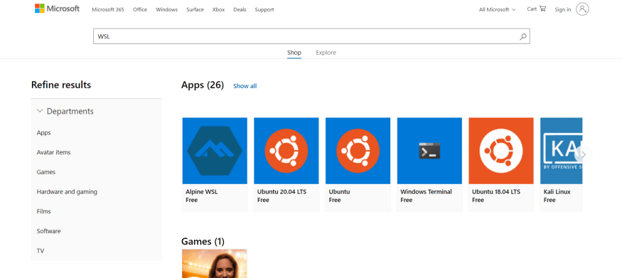 Picture of Windows Store