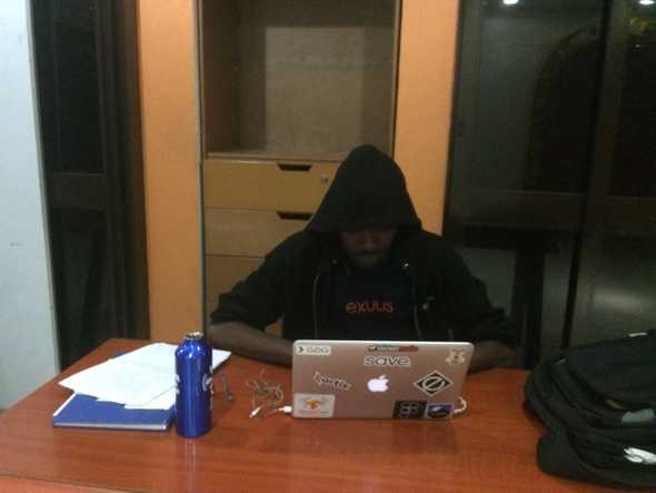 Me working At Klab