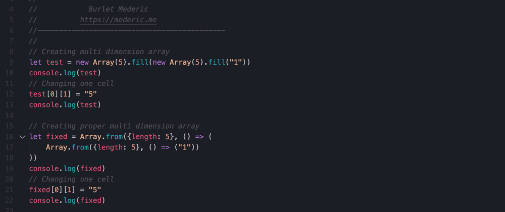 Cover image for How Array.fill can break arrays!