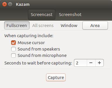 kazam screen reccorder