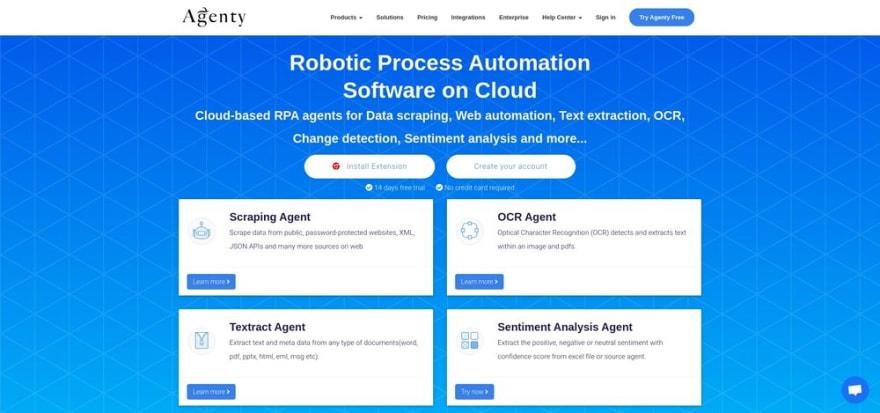 Agenty - Robotic Process Automation Software