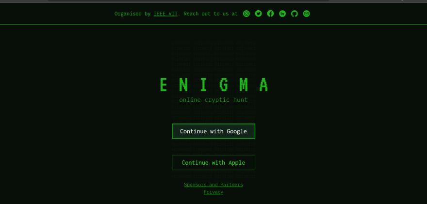 Enigma Screenshot