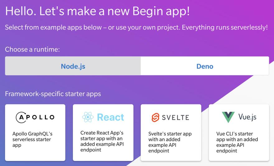 01-begin-new-app-selector