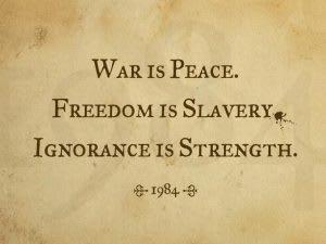 war is peace 1984 orwell
