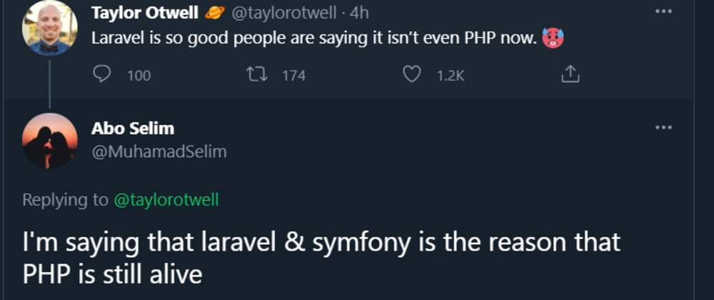 Cover image for I'm little bit confused with their tweets and comment about PHP