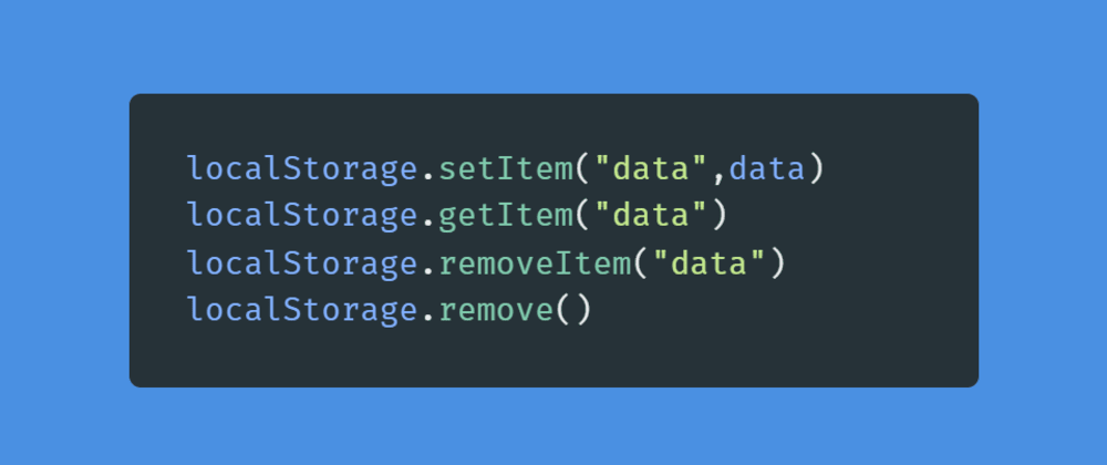 Cover image for Learn about using localStorage in Javascript and React