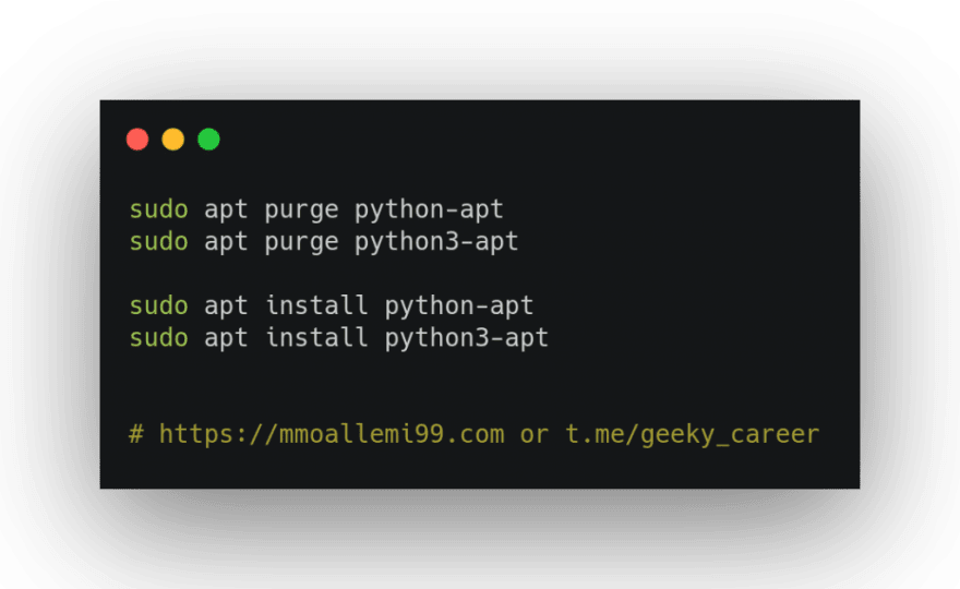 Reinstalling python-apt package