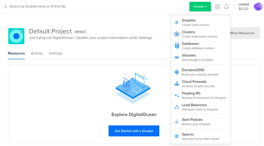 Digital-ocean-droplet