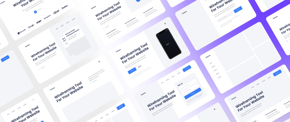 Cover image for I made a Next-Gen Wireframe Kit/Tool with 180+ Web sections for Figma. Let me know what do you think! 🔥