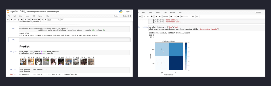 Using Jupyter notebook for ML