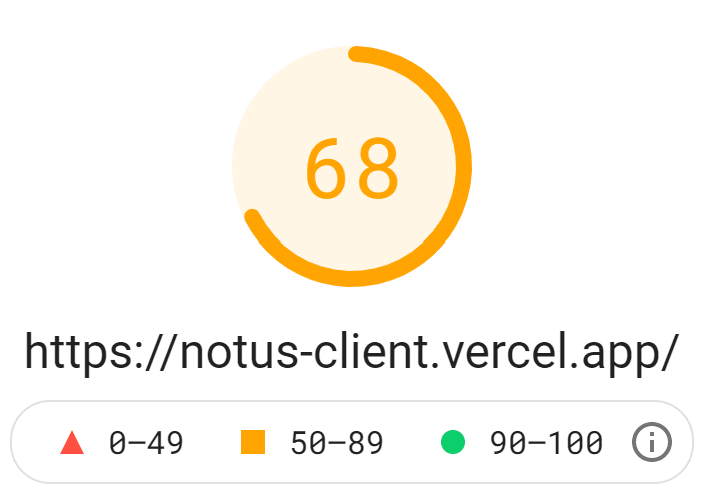 Client-side results