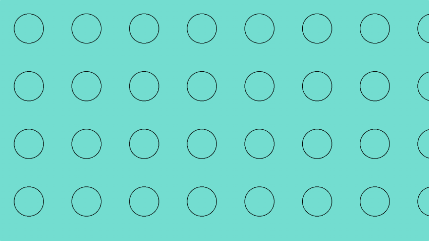 Turquoise bubble pattern with just CSS