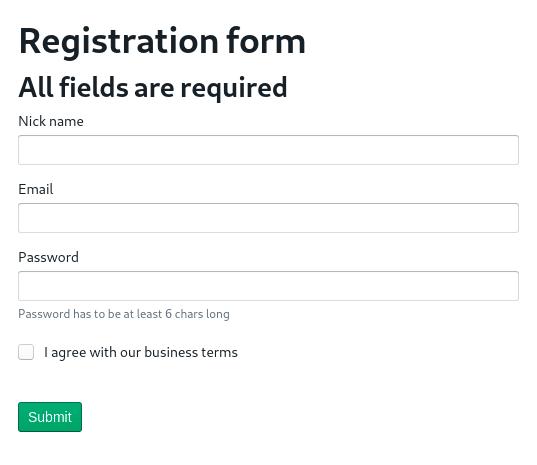 BlueprintJS React form showcase