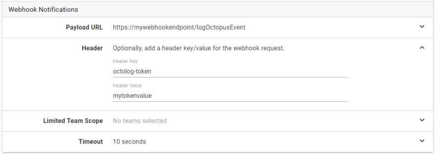 Webhook with token