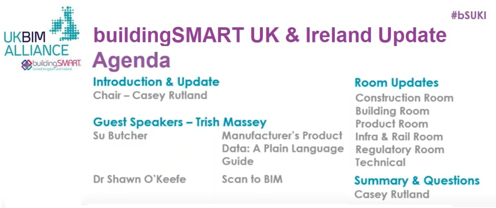 Cover image for BuildingSMART UK & Ireland Update