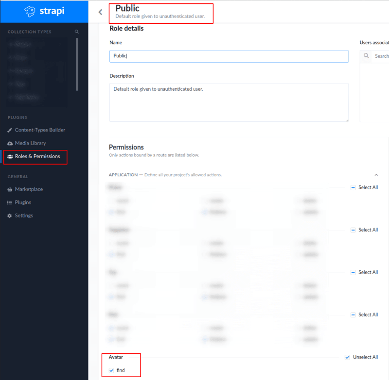 Updating permissions for the new method