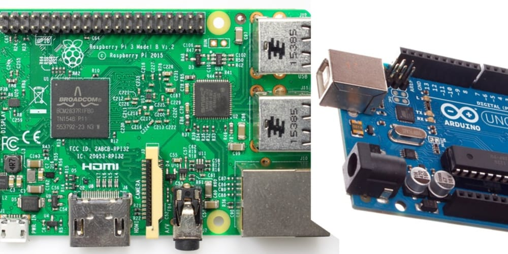 Explain the differences and use cases for a Raspberry Pi vs Arduino