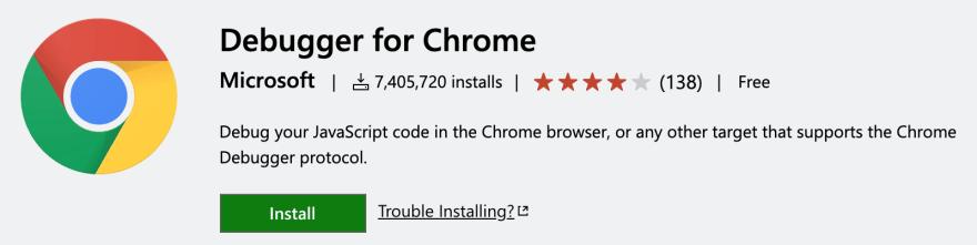 Chrome debugger extension for VSCode