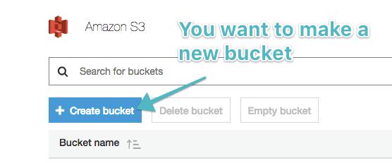 Add a new bucket
