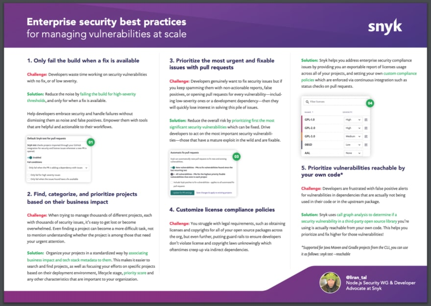Enterprise security best practices for managing vulnerabilities at scale