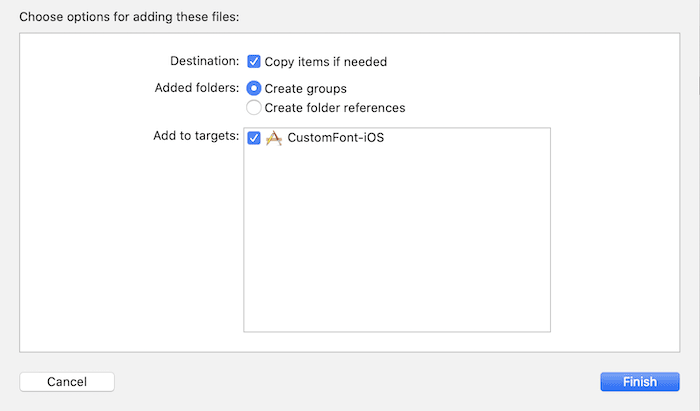 Add font to project