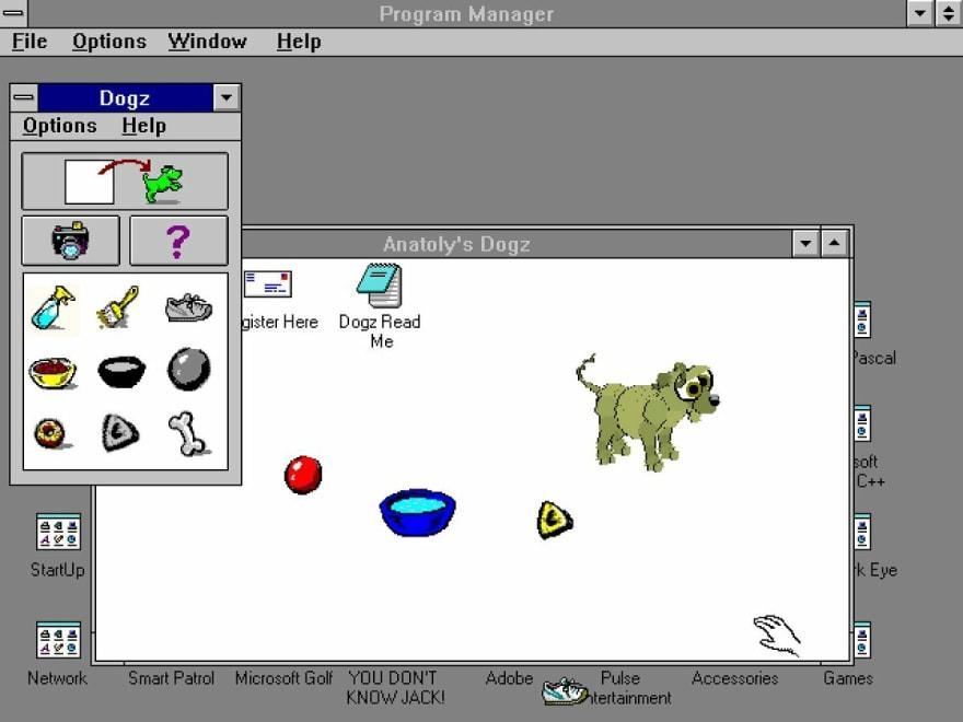 Dogz on Windows 3.1