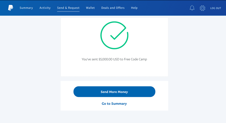 FreeCodeCamp donation
