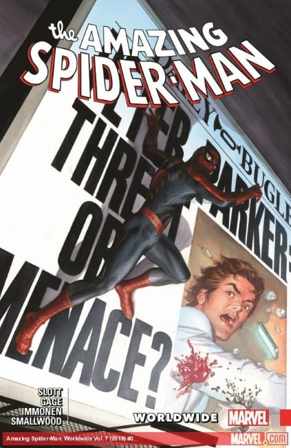 Spider-Man comic cover from 2018
