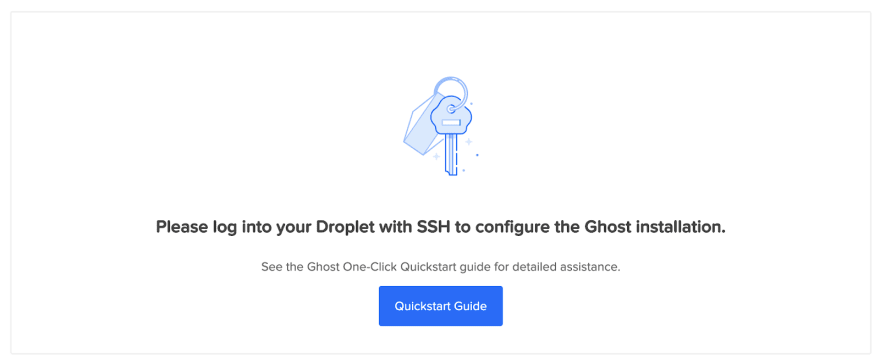 If you see this page at your IP, this means that you've installed the droplet properly.