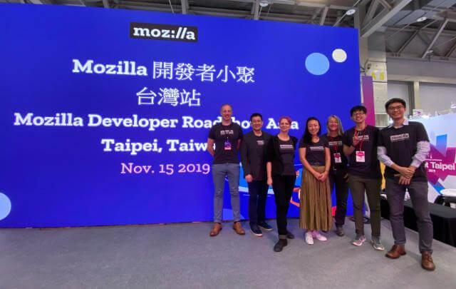 Team photo at the Taipei stop