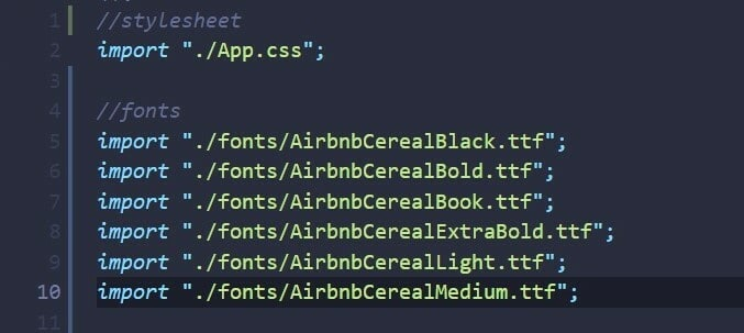Import to App.js