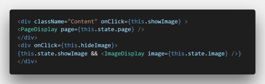Event handler and call to display ImageDisplay