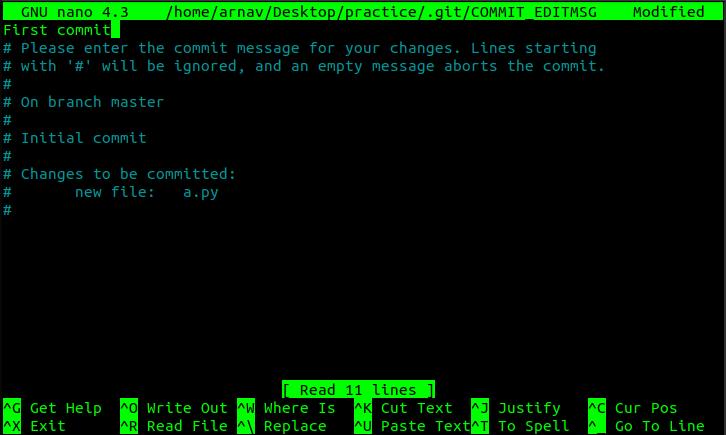 Message editor