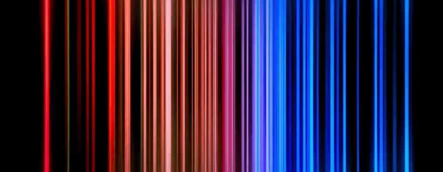 Colorful lights from Netflix animation
